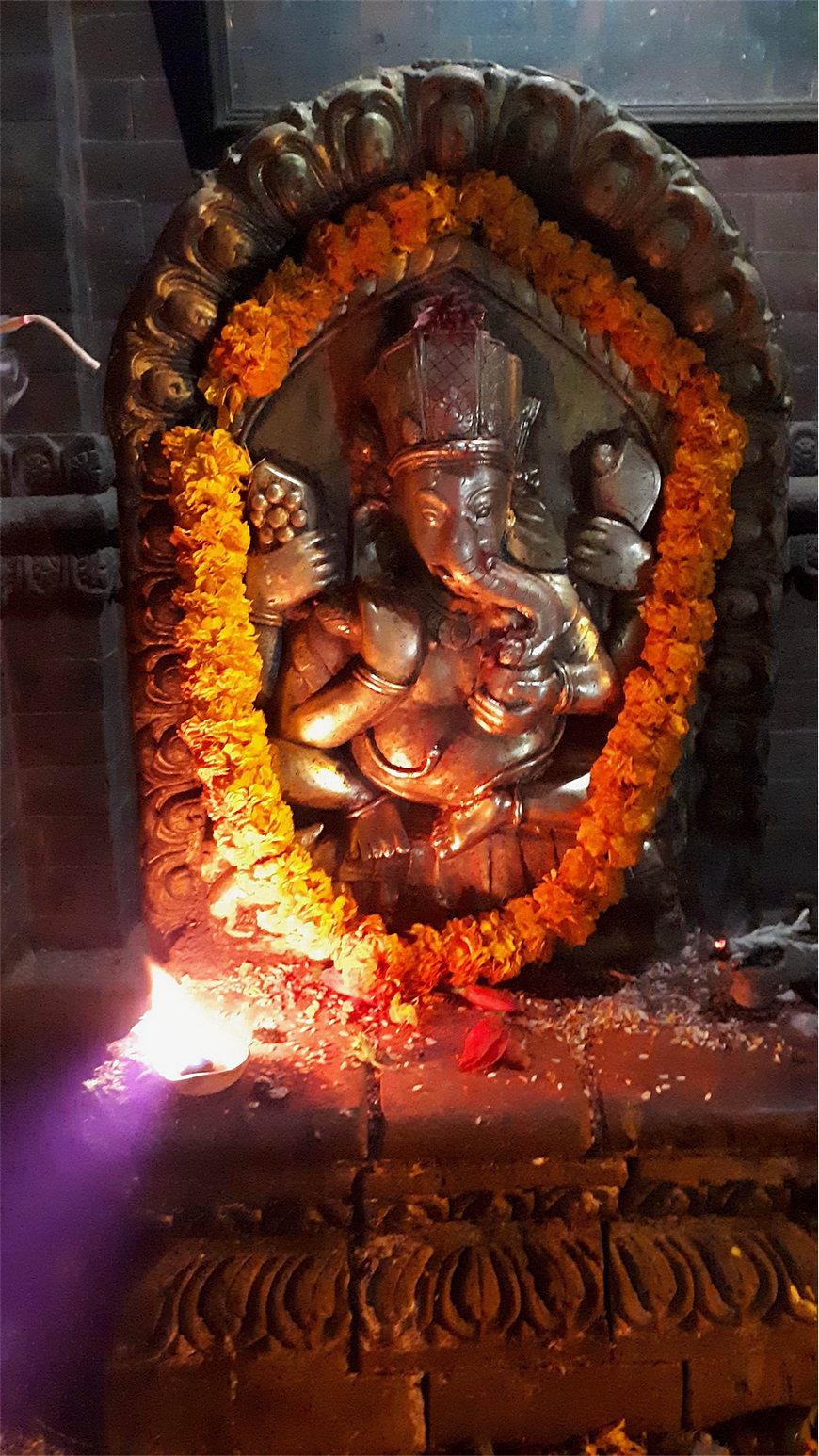 Ганеша, бог удачи со слоновьей головой Катманду Непал площадь Дурбар