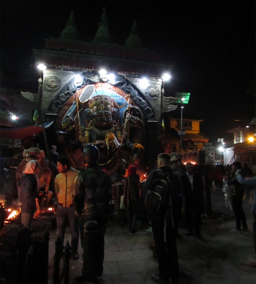 бог Шива на площади Дурбар в Катманду Непал