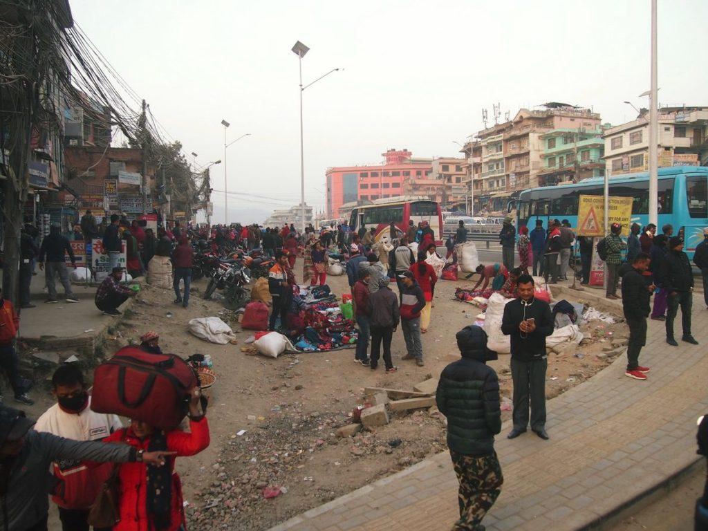 Пыльные улицы Катманду