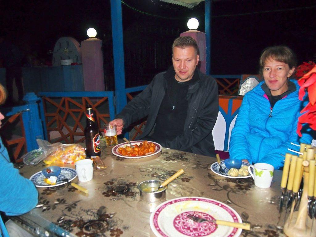 Ужин в отеле Tilicho hotel Джагат Непал