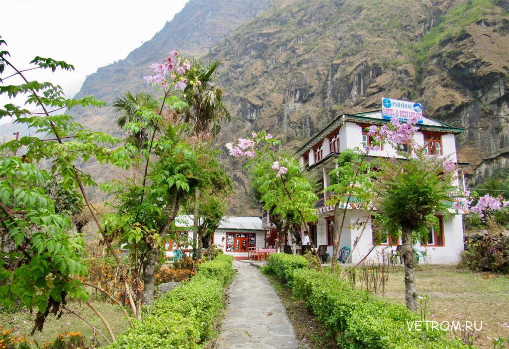 отель Paradise Lodge деревня Тал Непал