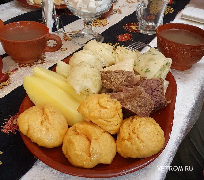 Кухня Дагестана - Хинкал-ассорти